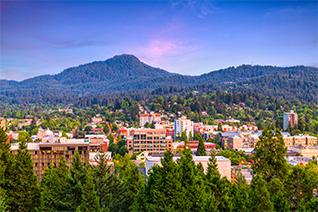 Eugene Oregon Cityscape