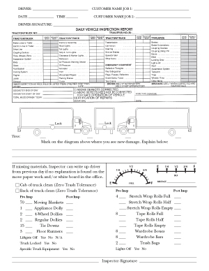 Truck Checklist with Daily Inspection